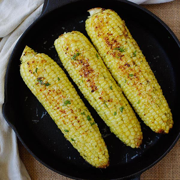 Basil Butter Corn