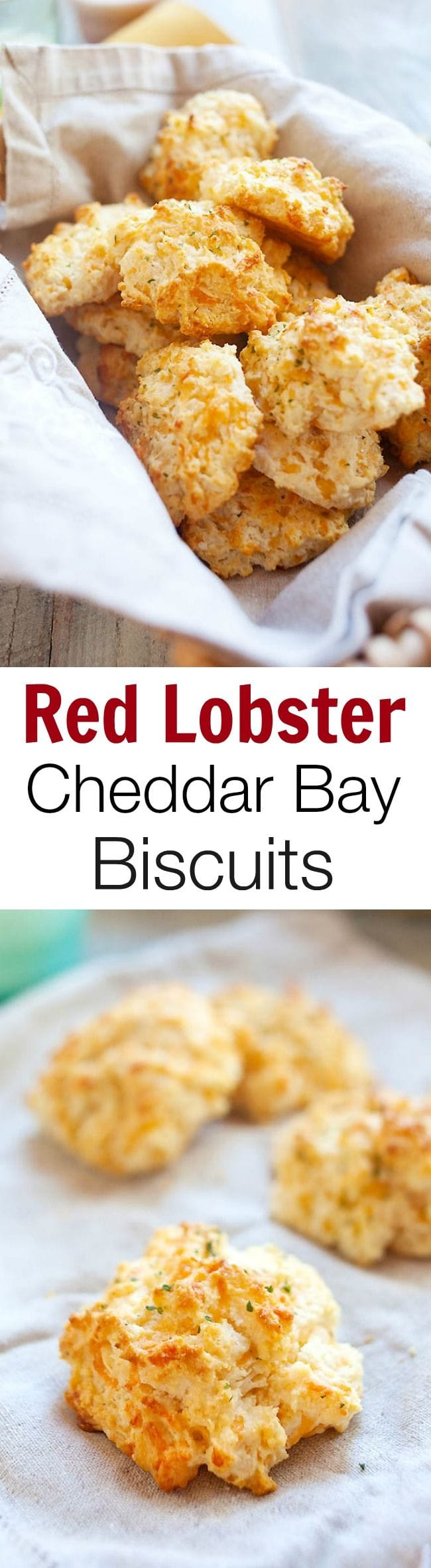 Red Lobster biscuits are buttery and cheesy cheddar bay biscuits served at Red Lobster. This homemade  copycat recipe tastes just like the real deal, fail proof and so easy to make at home! | rasamalaysia.com