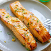 Honey mustard baked salmon