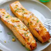 Honey mustard baked salmon