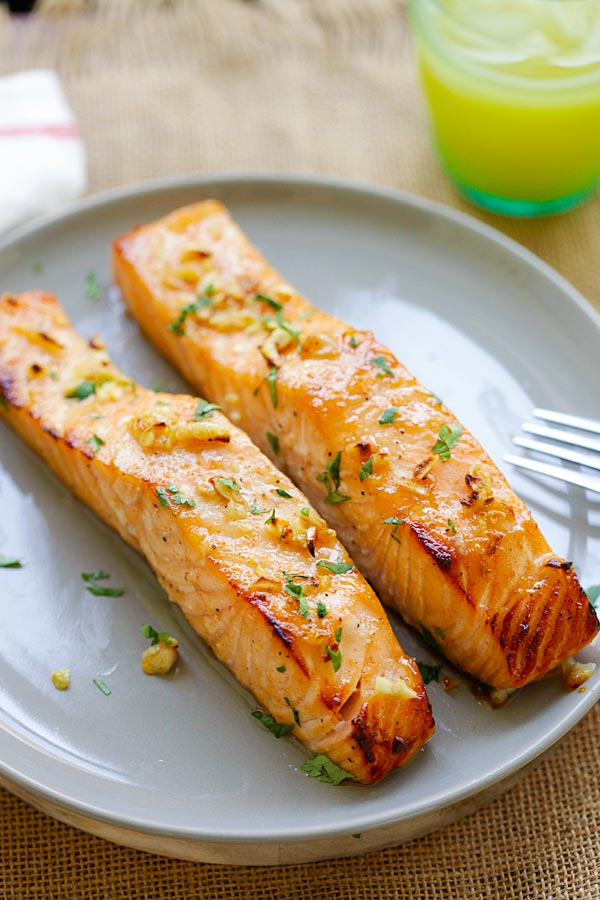 Honey Mustard Baked Salmon Extra Tender And Moist Rasa Malaysia