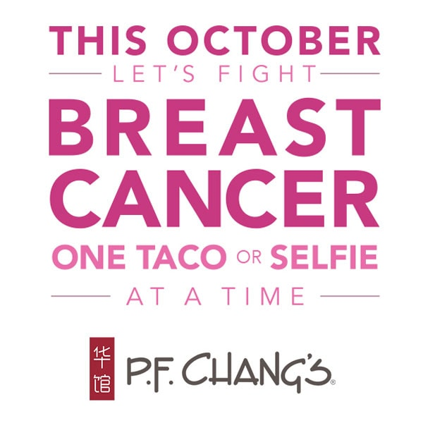 P.F. Chang's Pink Breast Cancer Awareness