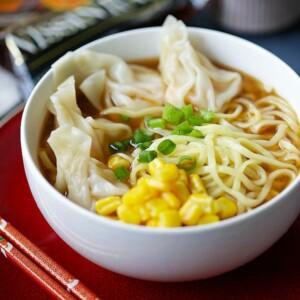Shrimp Wonton Miso Ramen