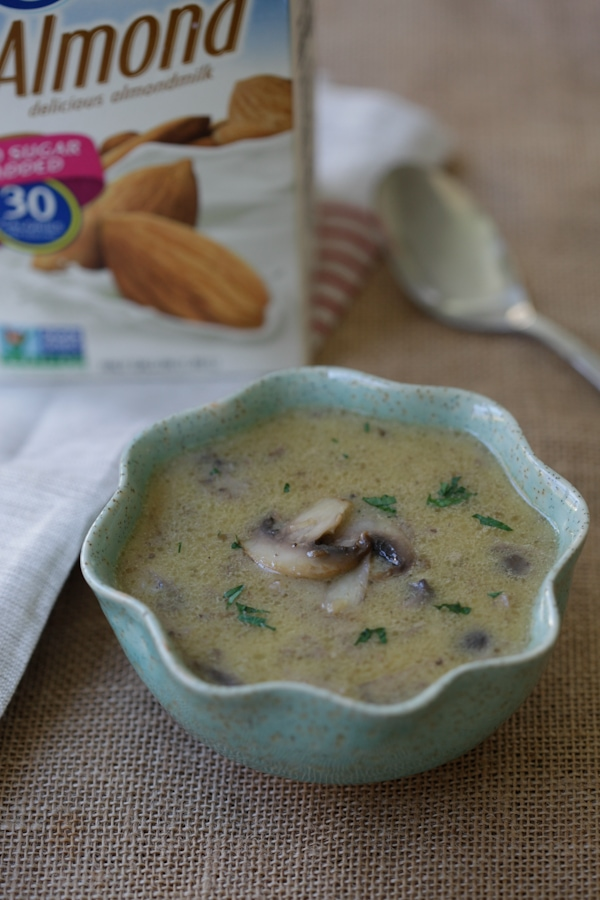 Dairy-Free Cream of Mushroom - easy and lighter cream of mushroom recipe using Silk Almond Milk. 100% dairy-free, gluten-free and plant-based | rasamalaysia.com