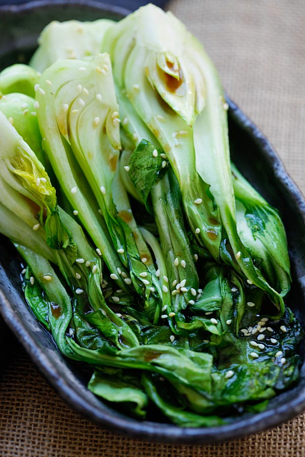 Roasted Bok Choy How To Cook Bok Choy In 10 Min Rasa Malaysia
