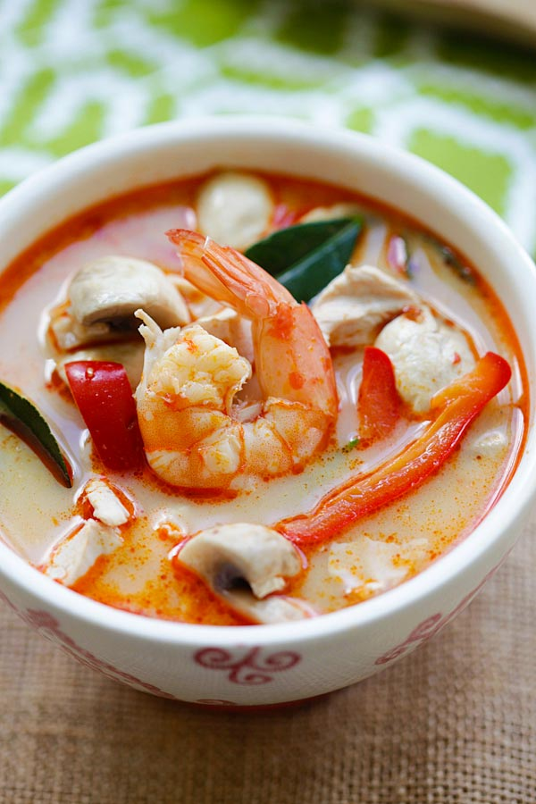 Thai Coconut Chicken and Shrimp Soup - the best soup you'll ever make ...