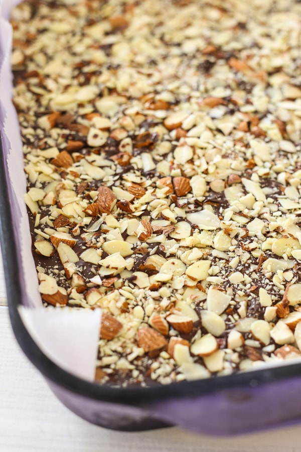 Easy and the best homemade almond toffee recipe for Christmas holidays.