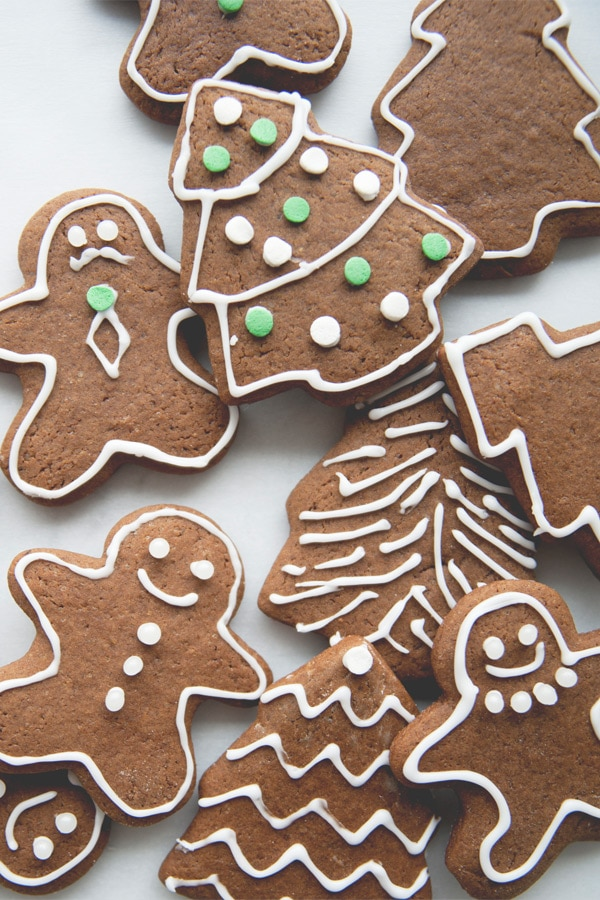 Easy homemade festive Gingerbread man cookies.