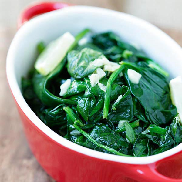 Garlic Butter Sauteed Spinach