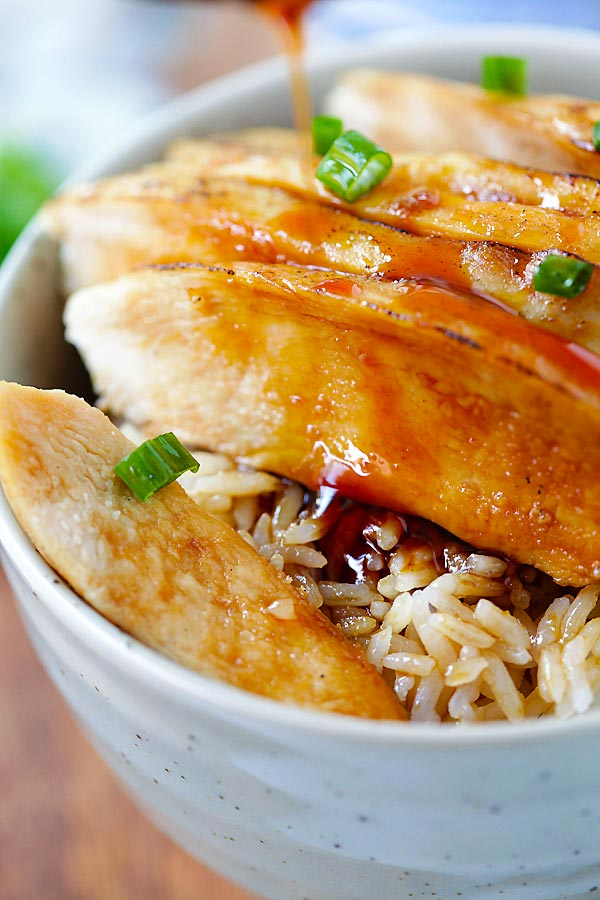 Mandarin Chicken - popular Chinese chicken dish with sweet and savory Mandarin sauce. Crazy good just like Panda Express or the malls | rasamalaysia.com