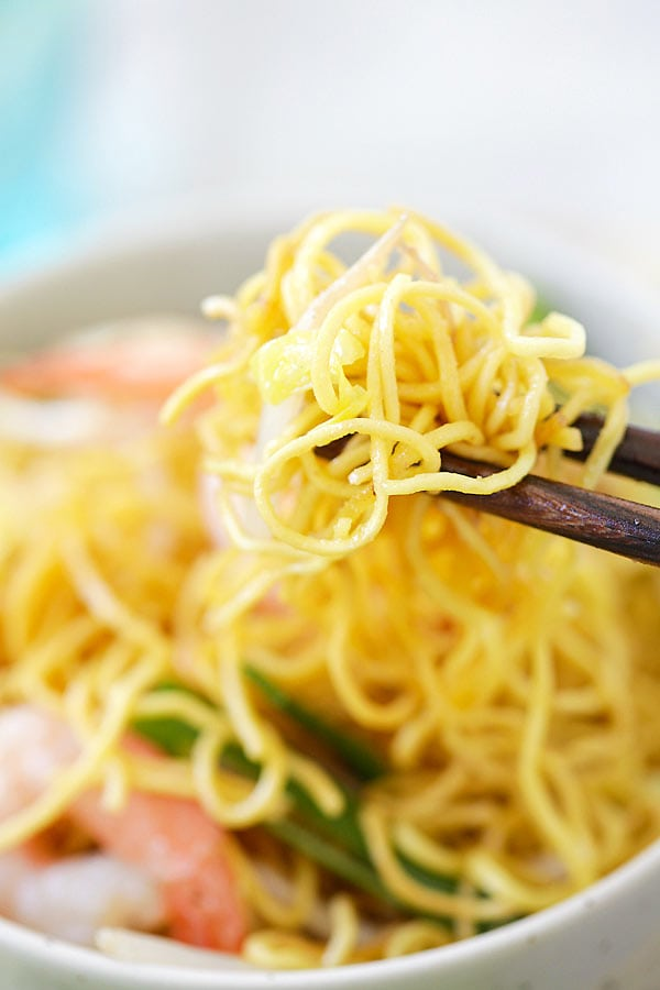 Strands of Chow Mein noodles coated with the amazing Chow Mein sauce.