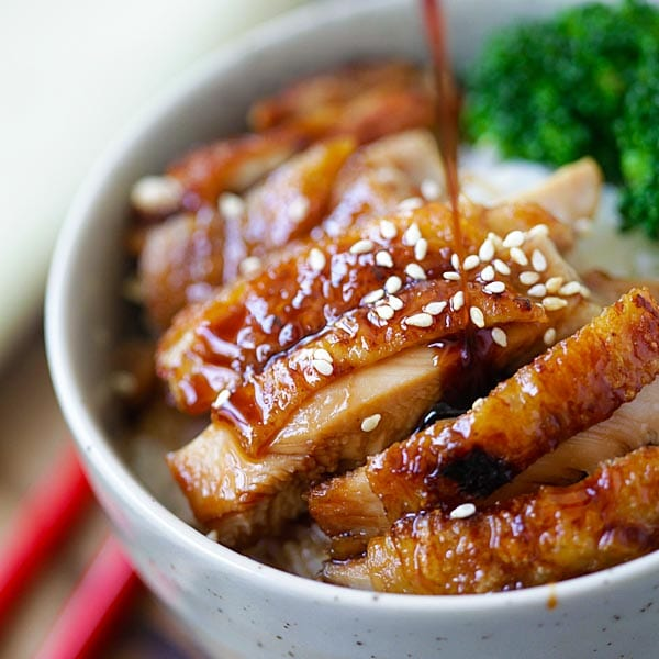 Chicken Teriyaki – learn how to make teriyaki sauce and chicken teriyaki that taste like the best Japanese restaurants. So easy and so good! | rasamalaysia.com