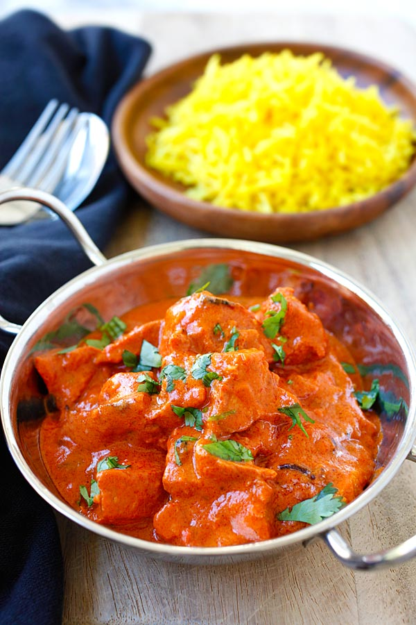 Chicken tikka masala recipe authentic rasa malaysia chicken tikka masala rich and creamy chicken tikka masala recipe with spicy tomato sauce forumfinder Images