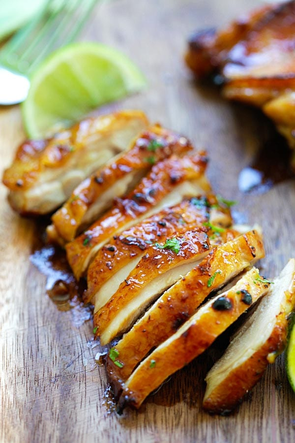 Oven roasted delicious Honey Lime Chicken.
