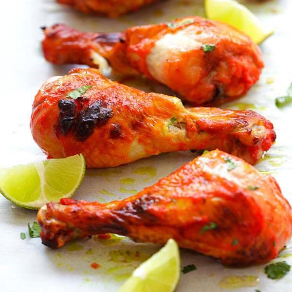 Tandoori Chicken - the best homemade oven-baked tandoori chicken recipe ever! Tender, moist, juicy and a zillion times better than Indian buffets   rasamalaysia.com