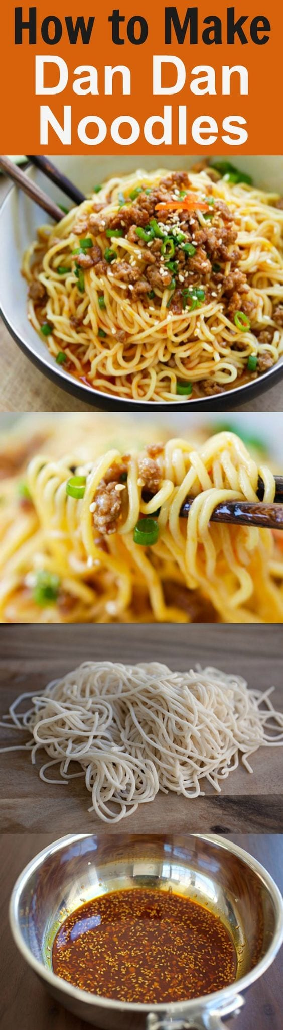Dan Dan Noodles - Savory and spicy Sichuan noodles with ground meat. Dan Dan Mian is a delicious and hearty meal. Learn it with this easy recipe. | rasamalaysia.com