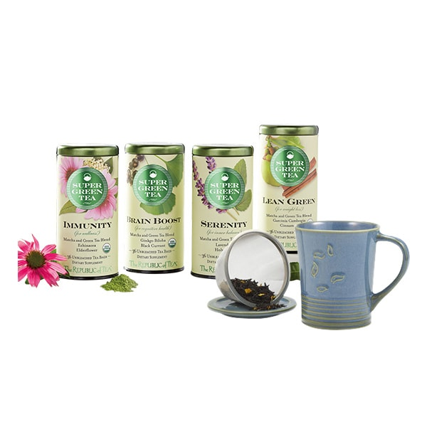 The Republic of Tea SuperGreen Tea Bags & Mug Giveaway