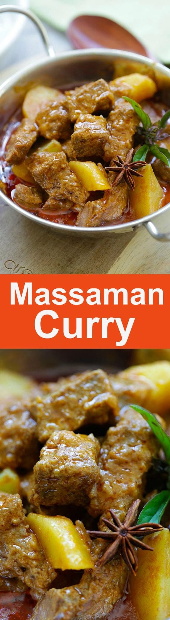 Beef Massaman Curry - crazy delicious Thai beef massaman curry. Learn how to make massaman curry with this easy and fail-proof recipe | rasamalaysia.com