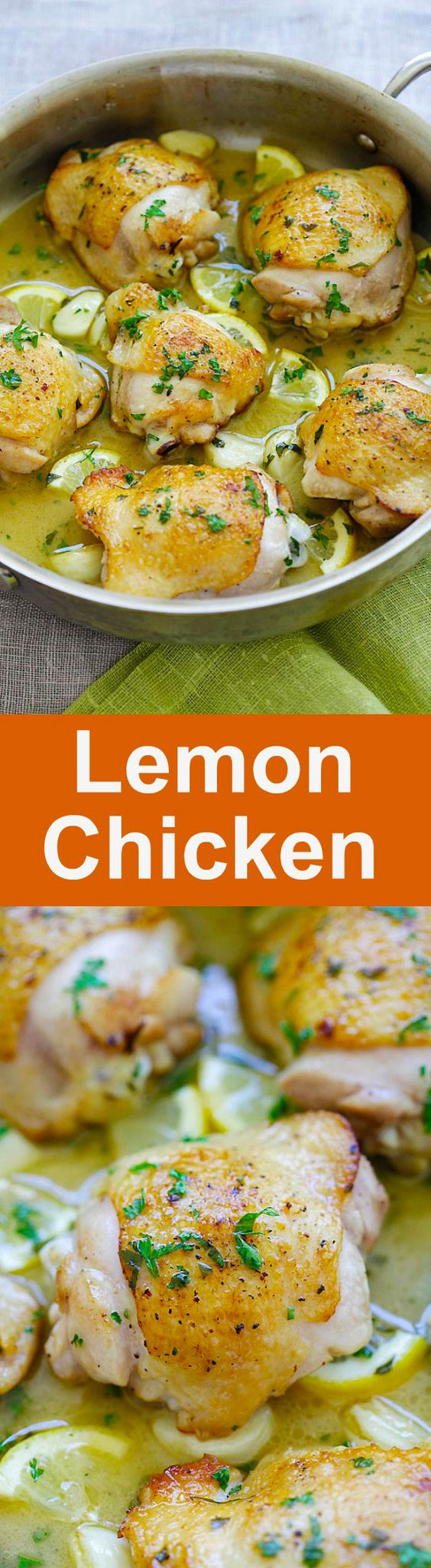 Lemon Chicken - one pan chicken pan-fried to golden perfection in buttery lemon sauce. Easy lemon chicken recipe that is perfect for dinner   rasamalaysia.com