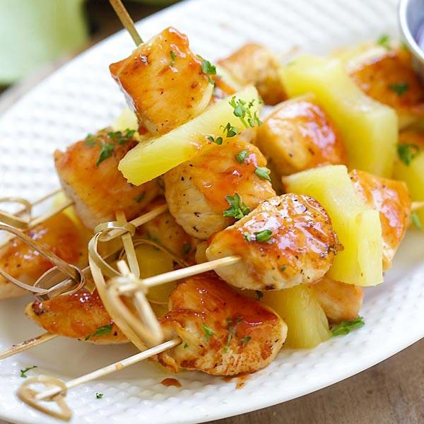 Hawaiian Chicken Kabobs The Best Recipe Rasa Malaysia
