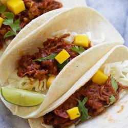 pulled beef brisket taco