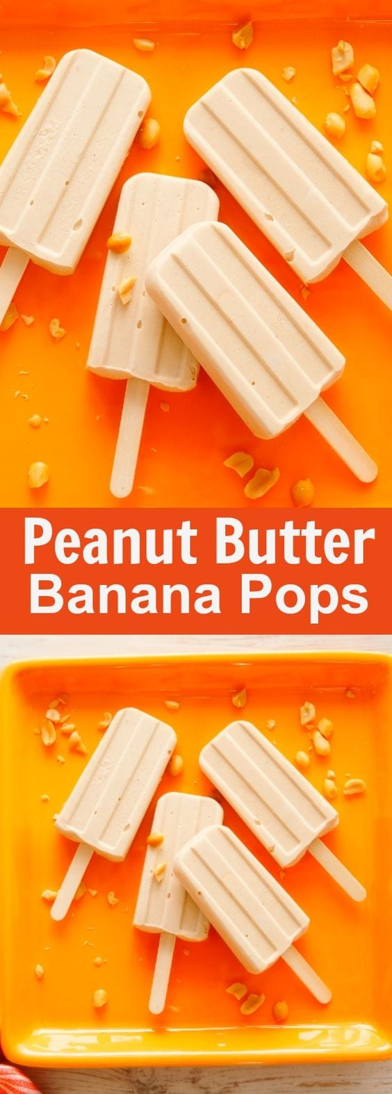 Peanut Butter Banana Pops - the creamiest homemade popsciles ever. Loaded with peanut butter and banana, they're perfect for summer | rasamalaysia.com