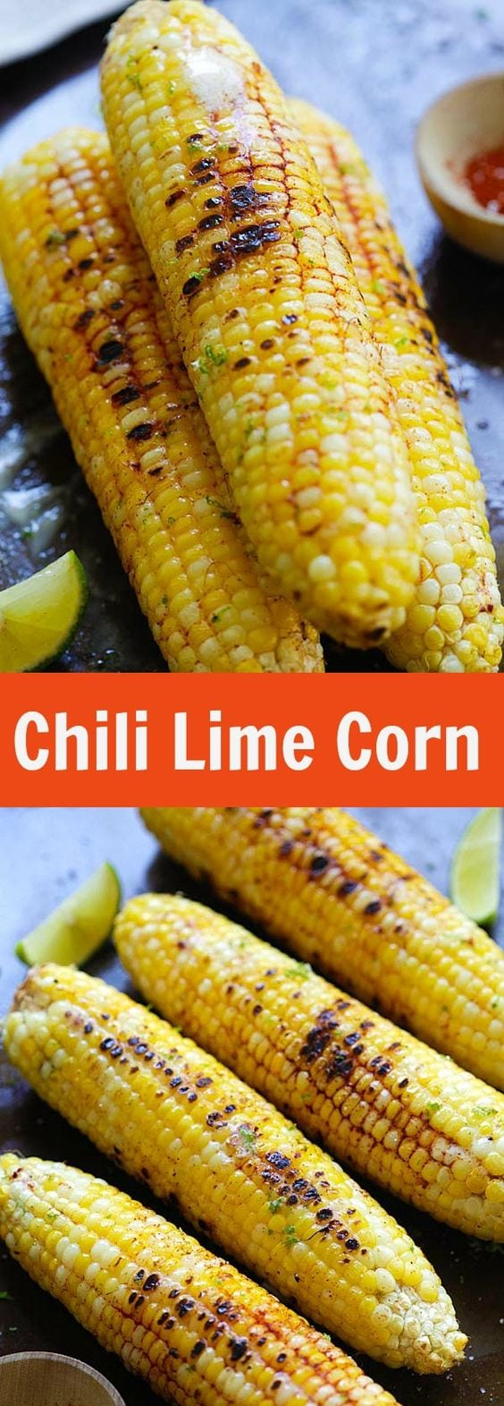Chili Lime Corn - fresh corn seasoned with chili-lime spice mix. This chili lime corn recipe is so delicious and amazing that you'll want more | rasamalaysia.com
