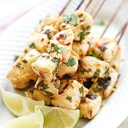 Cilantro Lime Chicken Kebab