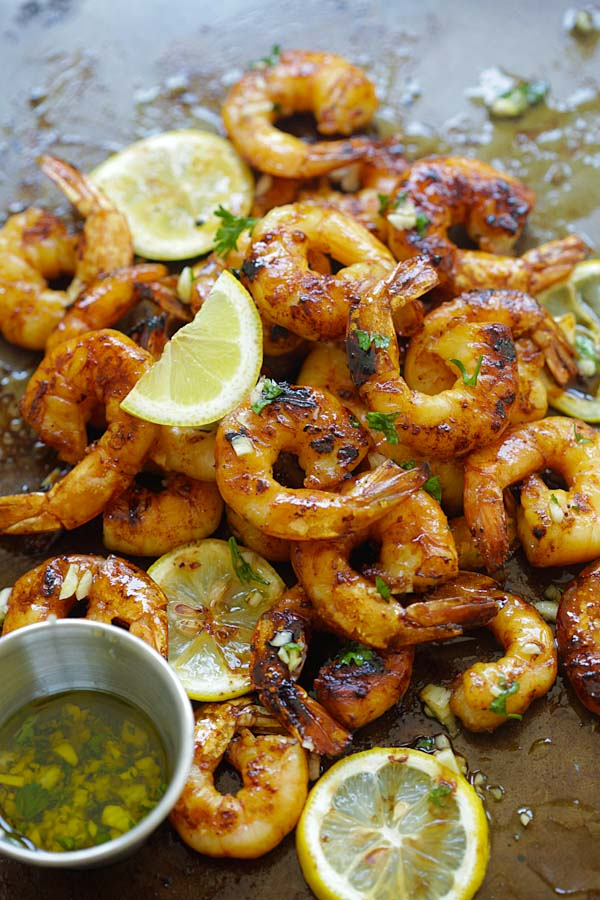 Grilled shrimp recipe with honey Cajun seasonings.