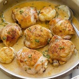 creamy garlic thyme chicken