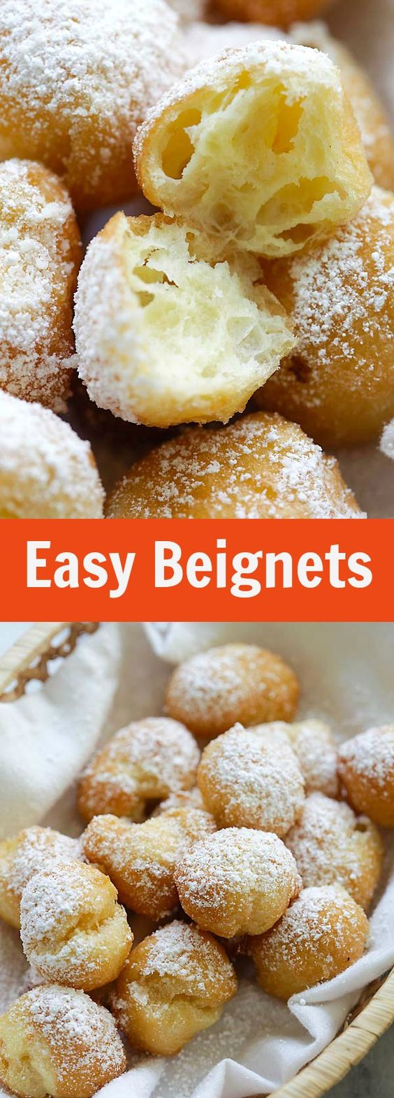 Easy Beignets – Homemade beignets have never been so easy and delicious! This easy beignet recipe is fail-proof and so good you can't stop eating   rasamalaysia.com