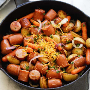 skillet sausage and potatoes