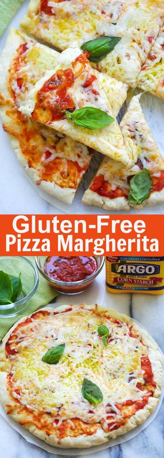Gluten-Free Pizza Margherita - homemade pizza Margherita with gluten-free crust. Made with Argo® Corn Starch, this pizza is so delicious   rasamalaysia.com
