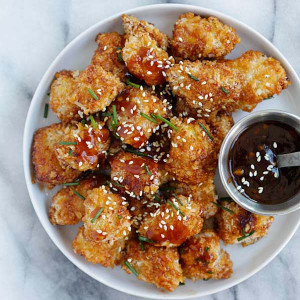 Honey Garlic Chicken Bites