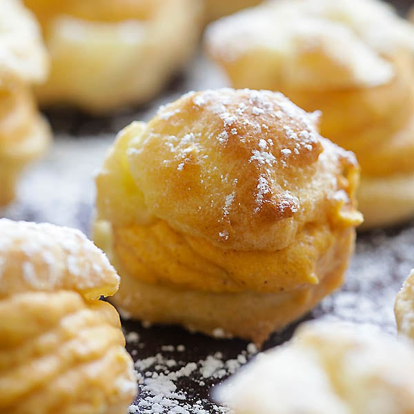 Pumpkin Cream Puffs