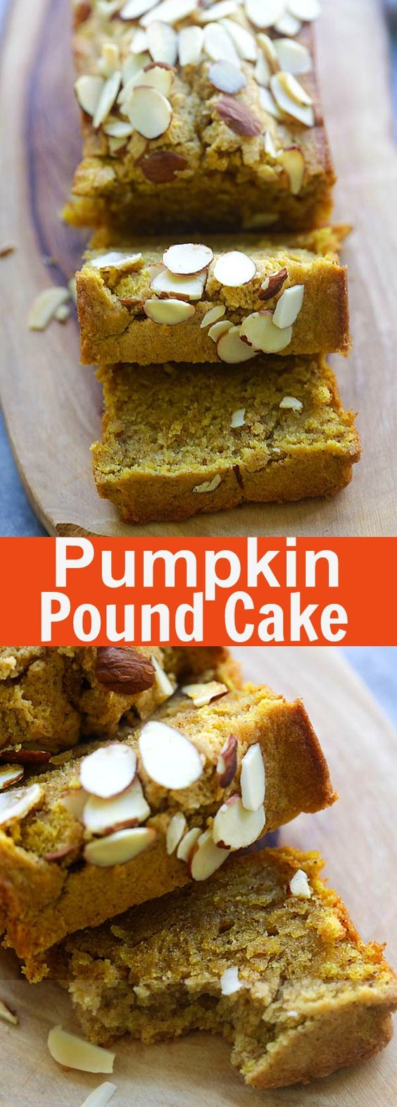 Pumpkin Pound Cake – buttery, moist and amazing pound cake recipe loaded with pumpkin and pumpkin pie spice. So aromatic and delicious | rasamalaysia.com