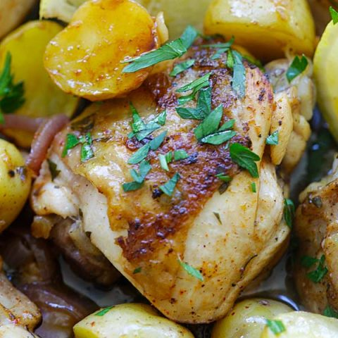 Spanish chicken and potatoes