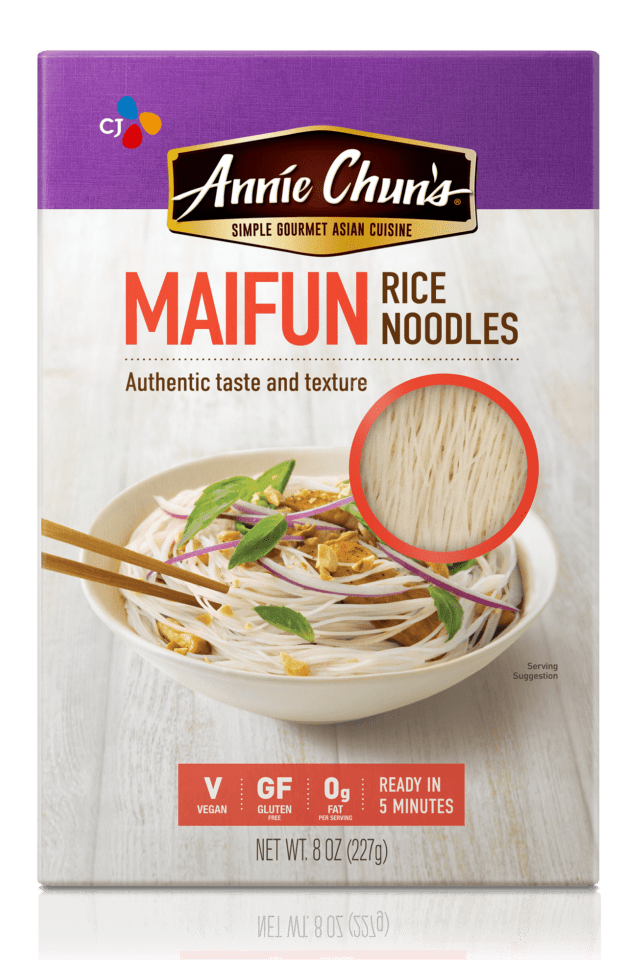 Annie Chun's mai fun rice noodles.