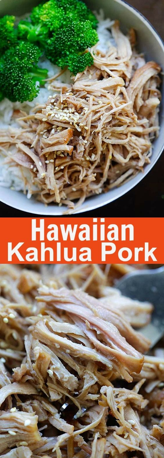 Hawaiian Kalua Pork - tender and juicy pressure cooker Hawaiian Kalua pork recipe. 10 mins active time and dinner is done | rasamalaysia.com