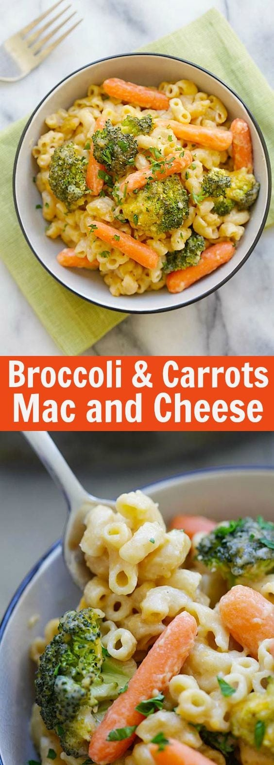 Mac and Cheese with Broccoli and Carrots – skillet Mac and Cheese loaded with healthy broccoli and carrots. Even the pickiest eaters like it | rasamalaysia.com