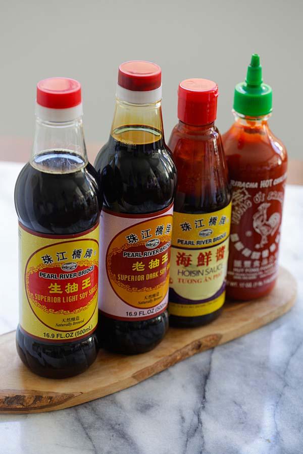4 main hoisin sauce ingredients.