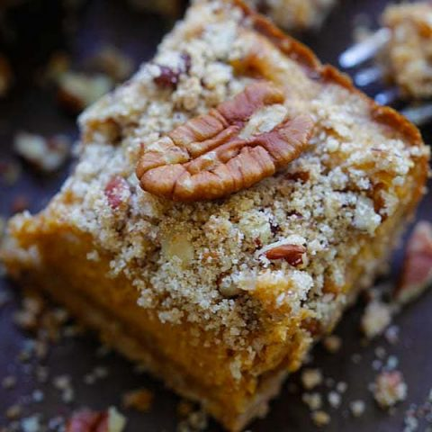 pumpkin pecan cheesecake bar