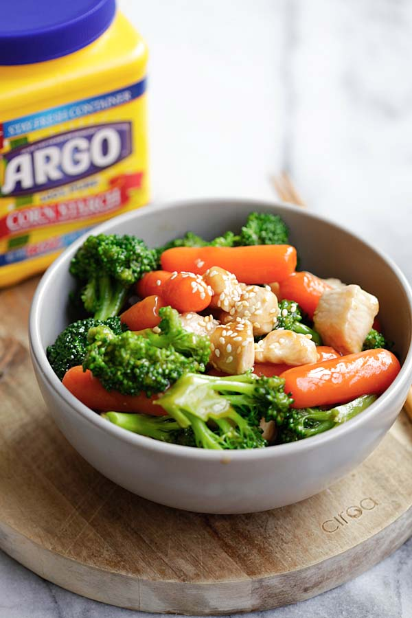 Easy Stir Fry Sauce Over Chicken and Broccolie