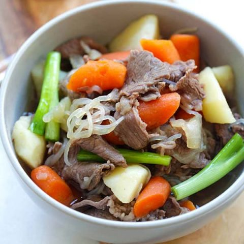 Japanese meat and potato stew