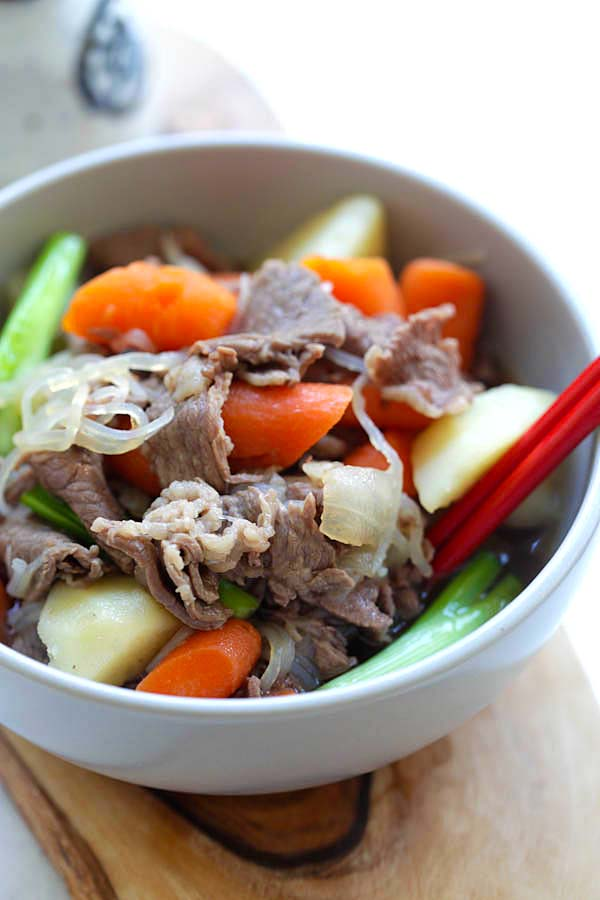 Japanese Meat and Potato Stew (Nikujaga) | Easy Delicious ...