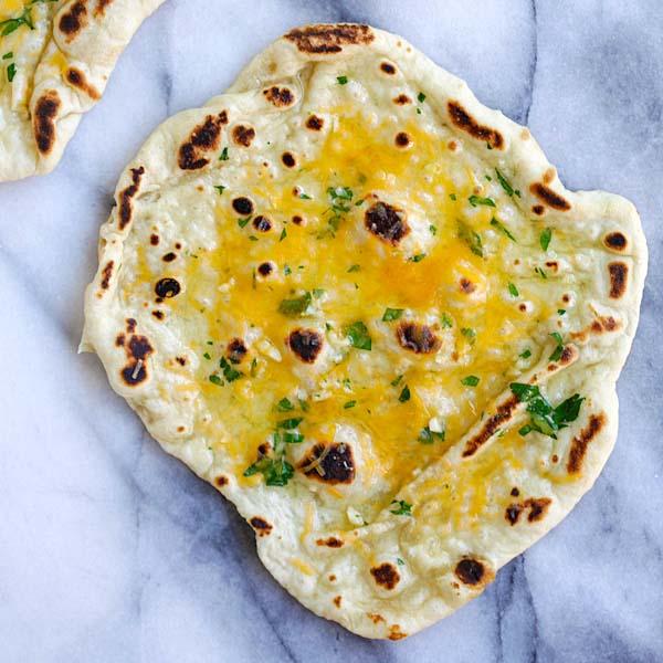 Cheesy Garlic Naan