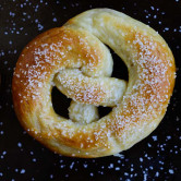 Soft homemade pretzel.