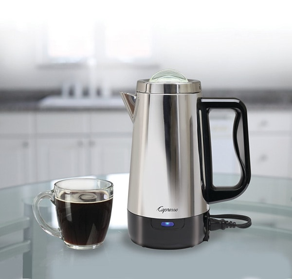 Capresso 8 Cup Perk Stainless Steel Percolator Giveaway