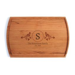 Elegant Family Monogram Laser Engraved Cutting Board Giveaway (US & Canada) (CLOSED)