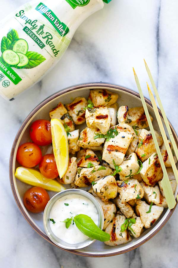 Mediterranean Chicken Bites - juicy, tender and the most flavorful chicken bites with Mediterranean marinade. So easy to make and delicious | rasamalaysia.com